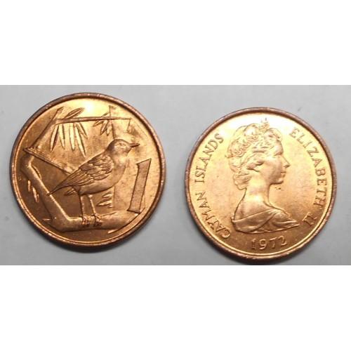 CAYMAN ISLANDS 1 Cent 1972