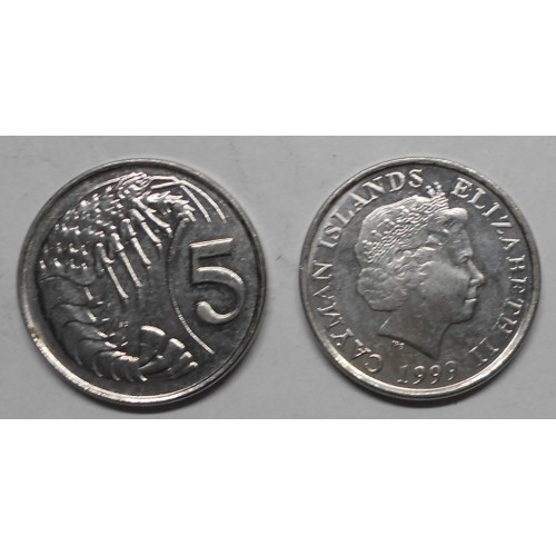 CAYMAN ISLANDS 5 Cents 1999