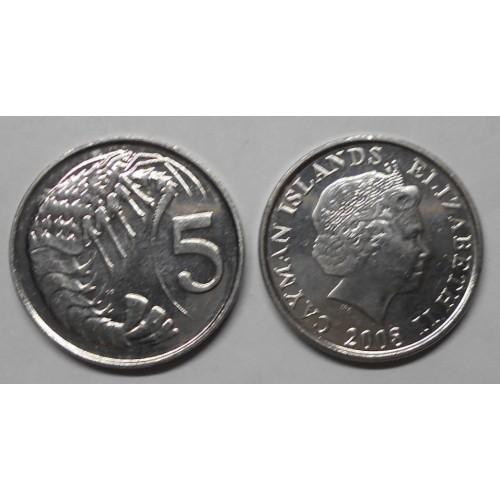 CAYMAN ISLANDS 5 Cents 2008