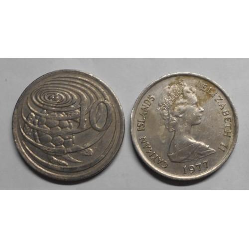 CAYMAN ISLANDS 10 Cents 1977