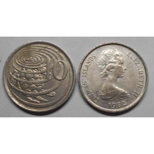 CAYMAN ISLANDS 10 Cents 1982