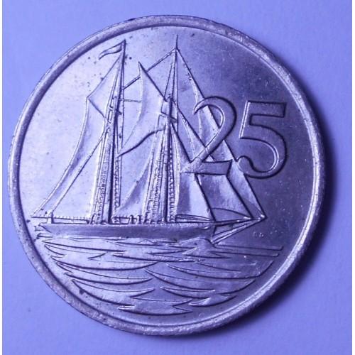 CAYMAN ISLANDS 25 Cents 1987