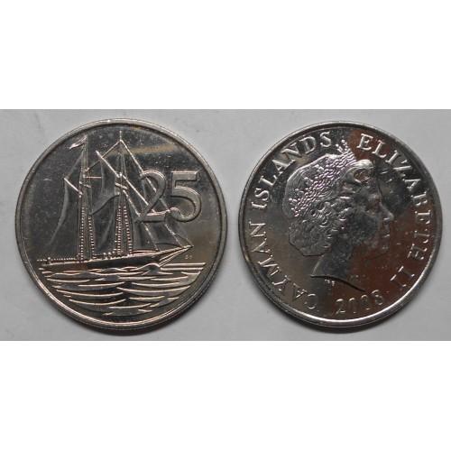 CAYMAN ISLANDS 25 Cents 2008