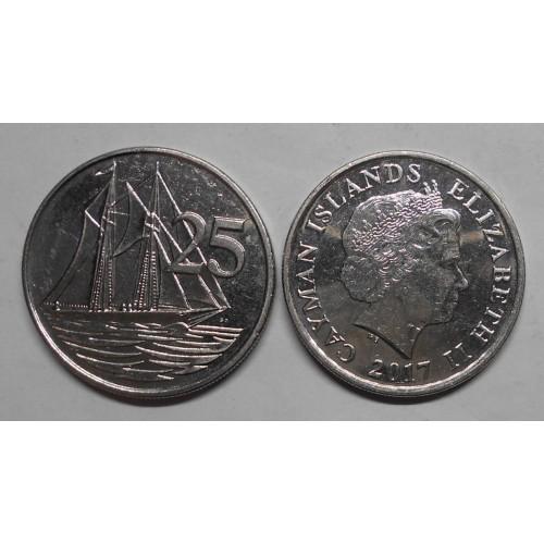CAYMAN ISLANDS 25 Cents 2017