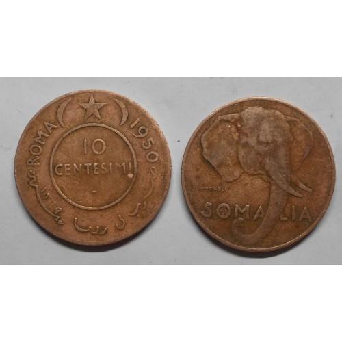 AFIS 10 Centesimi 1950