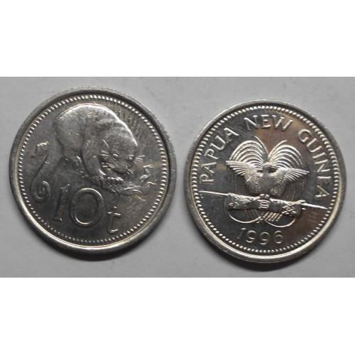 PAPUA NEW GUINEA 10 Toea 1996