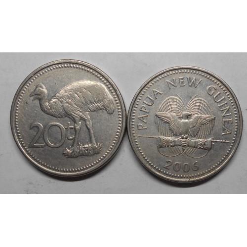 PAPUA NEW GUINEA 20 Toea 2006
