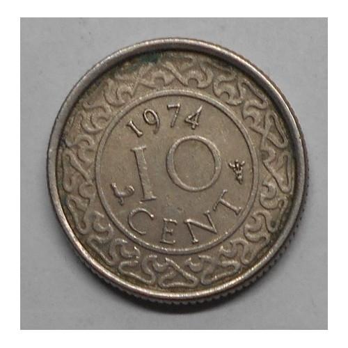 SURINAME 10 Cents 1974