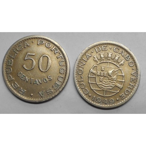 CAPE VERDE 50 Centavos 1949