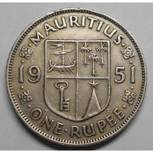 MAURITIUS 1 Rupee 1951