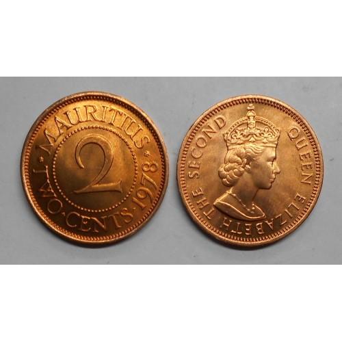 MAURITIUS 2 Cents 1978