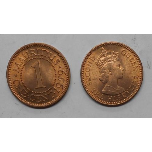 MAURITIUS 1 Cent 1959