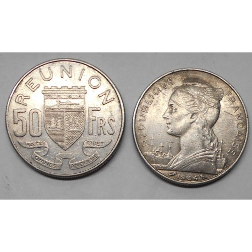 REUNION 50 Francs 1964
