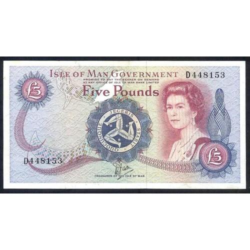 ISLE OF MAN 5 Pounds 1987