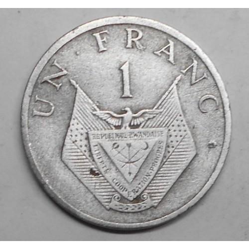 RWANDA 1 Franc 1977