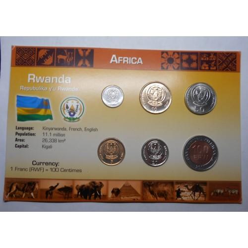 RWANDA Set coins 2003