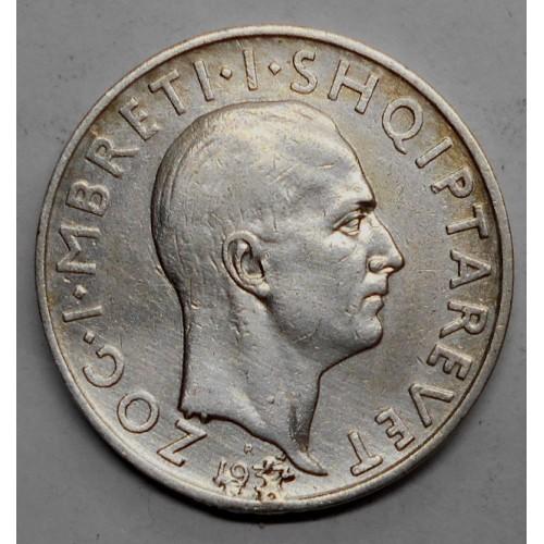 ALBANIA 1 Frang Ar 1937 AG
