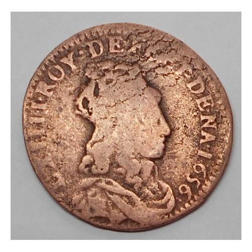 FRANCE Liard 1656 Louis XIV