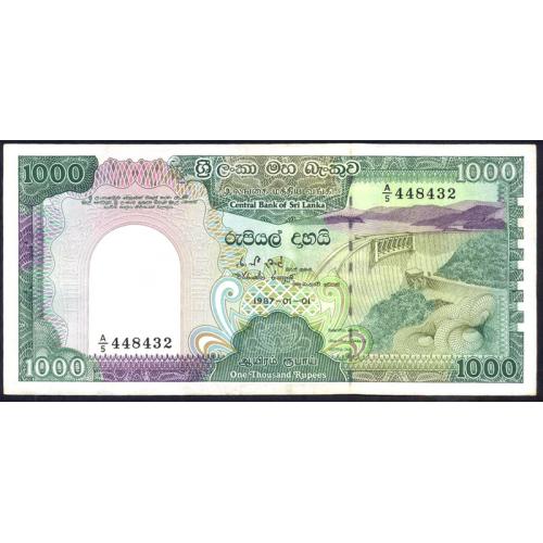 SRI LANKA 1000 Rupees 1987