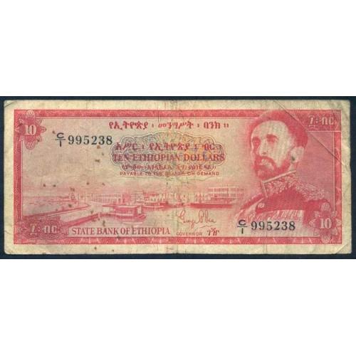 ETHIOPIA 10 Dollars 1961