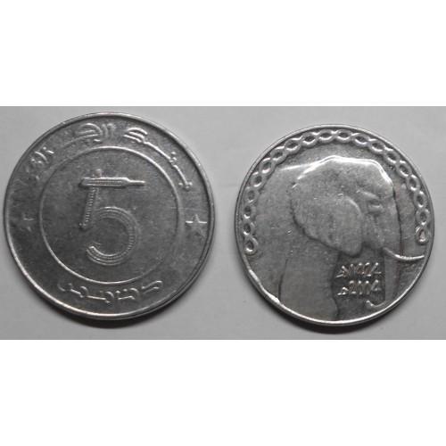 ALGERIA 5 Dinars 2004...
