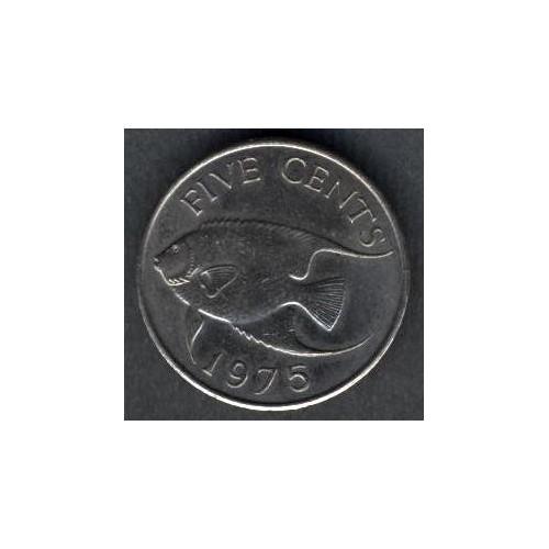 BERMUDA 5 Cents 1975