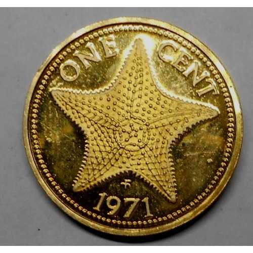 BAHAMAS 1 Cent 1971 PROOF