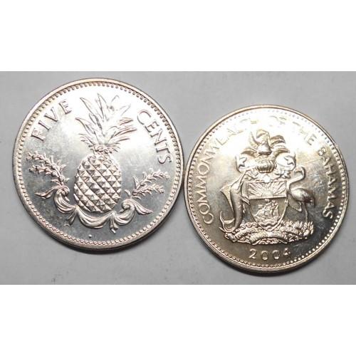 BAHAMAS 5 Cents 2004