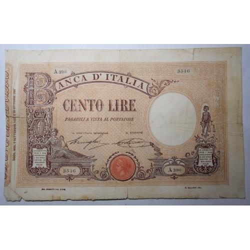 100 Lire Matrice 9.9.1922