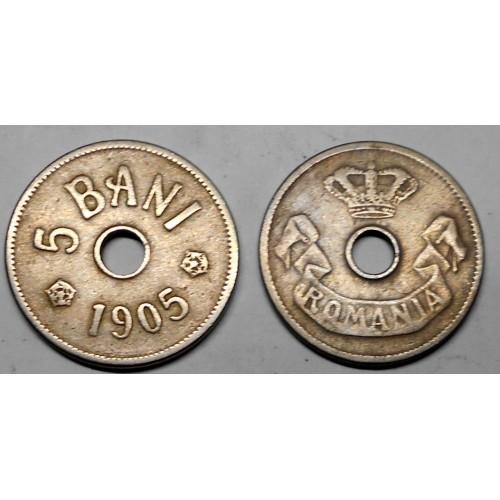 ROMANIA 5 Bani 1905