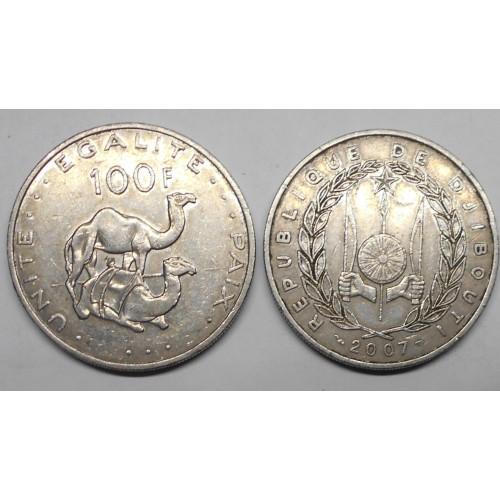 DJIBOUTI 100 Francs 2007