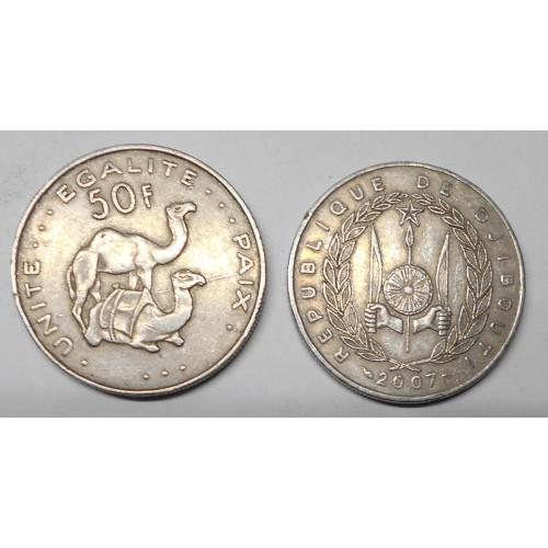 DJIBOUTI 50 Francs 2007