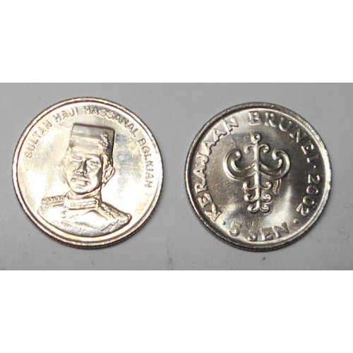 BRUNEI 5 Sen 2002