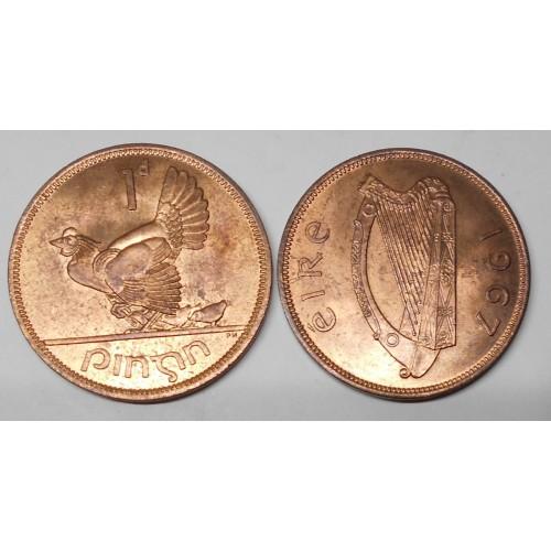 IRELAND 1 Penny 1967