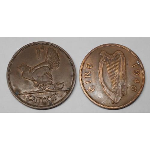 IRELAND 1 Penny 1946