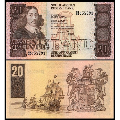 SOUTH AFRICA 20 Rand 1984