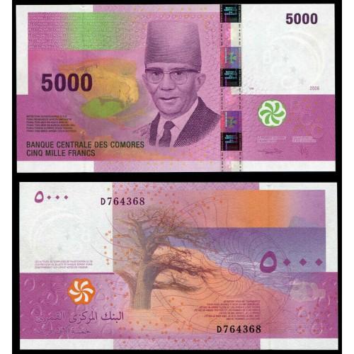 COMOROS 5000 Francs 2006