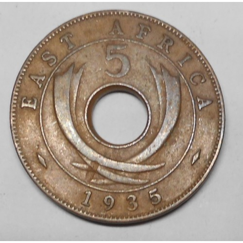 EAST AFRICA 5 Cents 1935