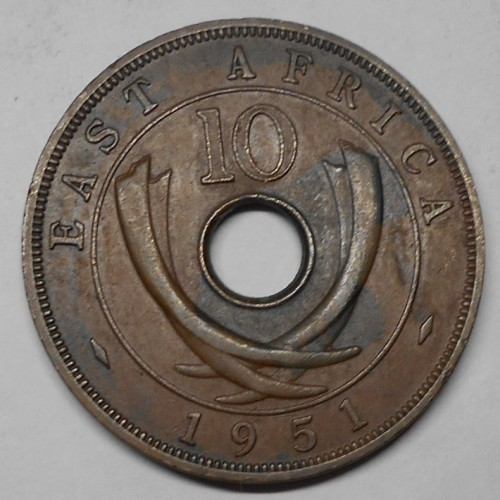 EAST AFRICA 10 Cents 1951