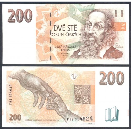 CZECH REPUBLIC 200 Korun 1998