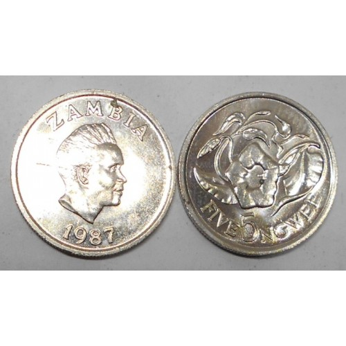 ZAMBIA 5 Ngwee 1987