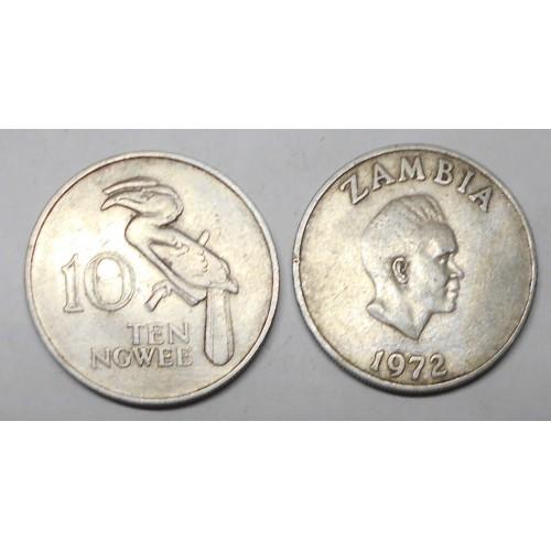 ZAMBIA 10 Ngwee 1972