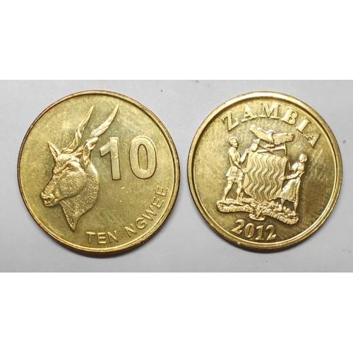 ZAMBIA 10 Ngwee 2012