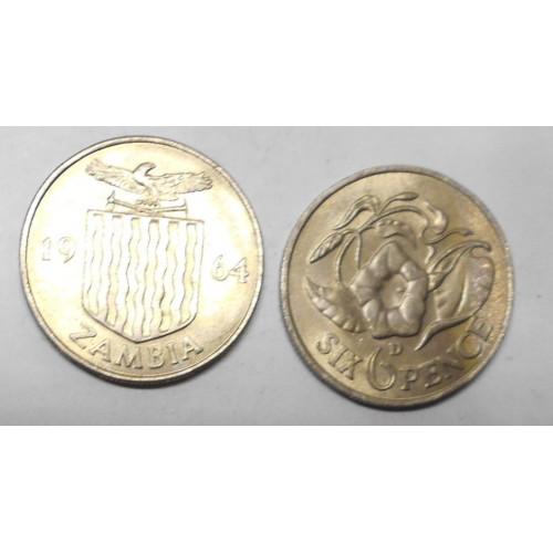 ZAMBIA 6 Pence 1964