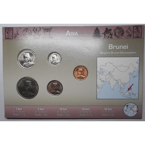 BRUNEI Set coins 2005/08