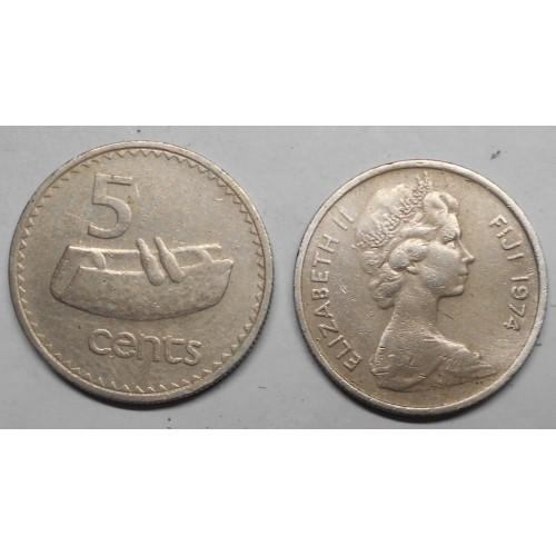 FIJI 5 Cents 1974