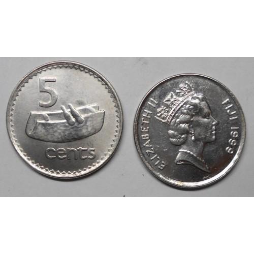 FIJI 5 Cents 1999