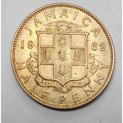 JAMAICA 1/2 Penny 1962