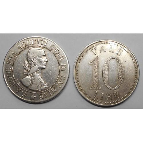 GETTONE 10 Lire 1918...