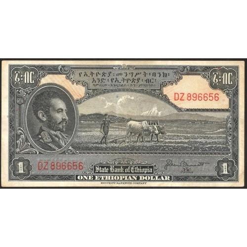 ETHIOPIA 1 Dollar 1945